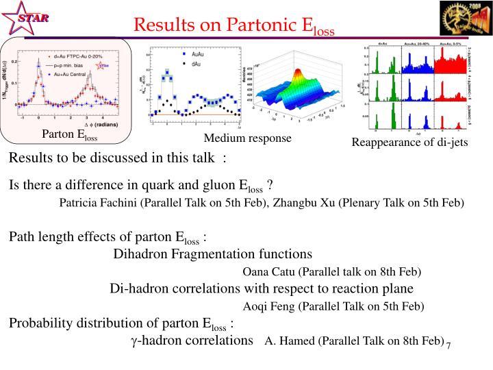 Results on Partonic E
