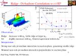 ridge di hadron correlation w r t rp