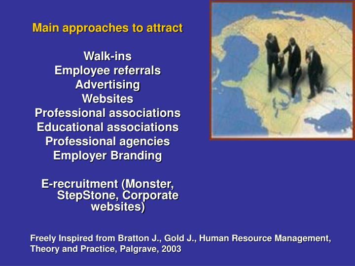 Main approaches to attract