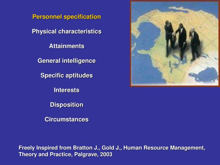 Personnel specification