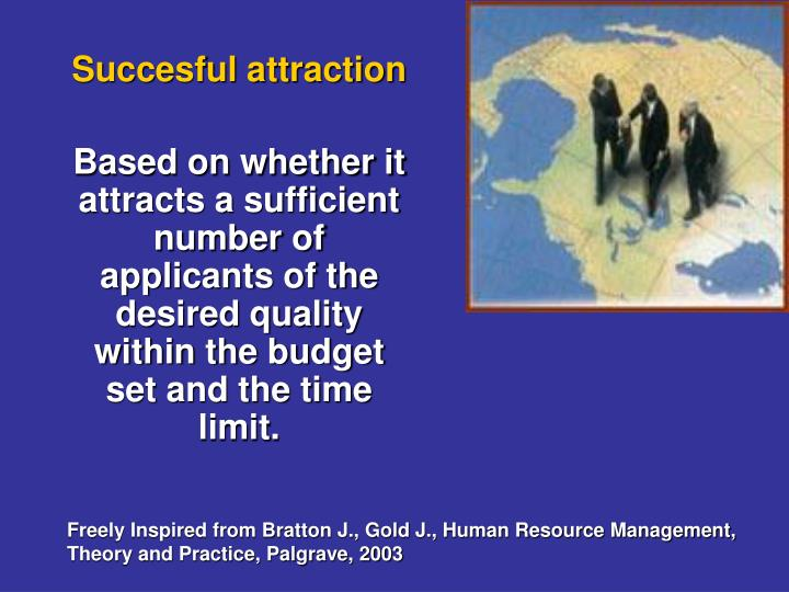 Succesful attraction