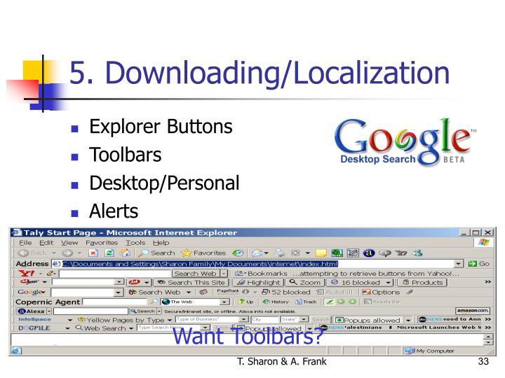 5. Downloading/Localization