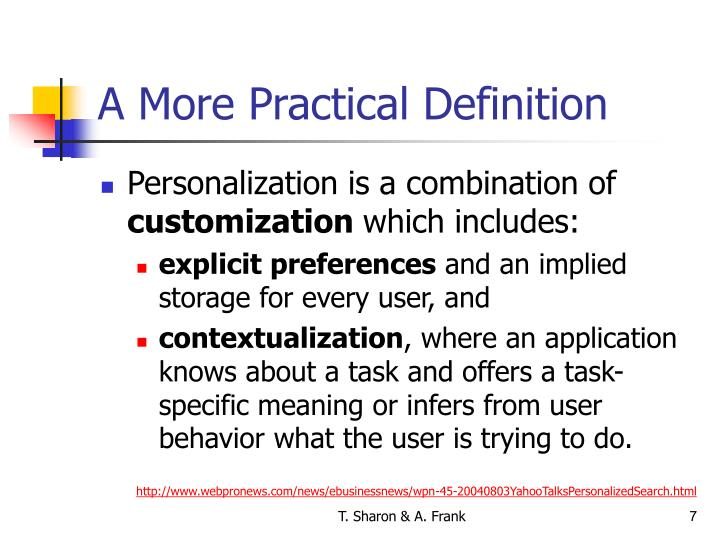 A More Practical Definition
