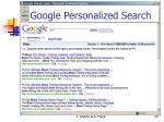 google personalized search1