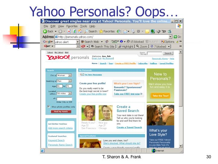 Yahoo Personals? Oops