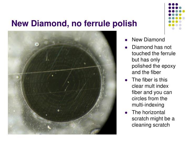 New Diamond, no ferrule polish