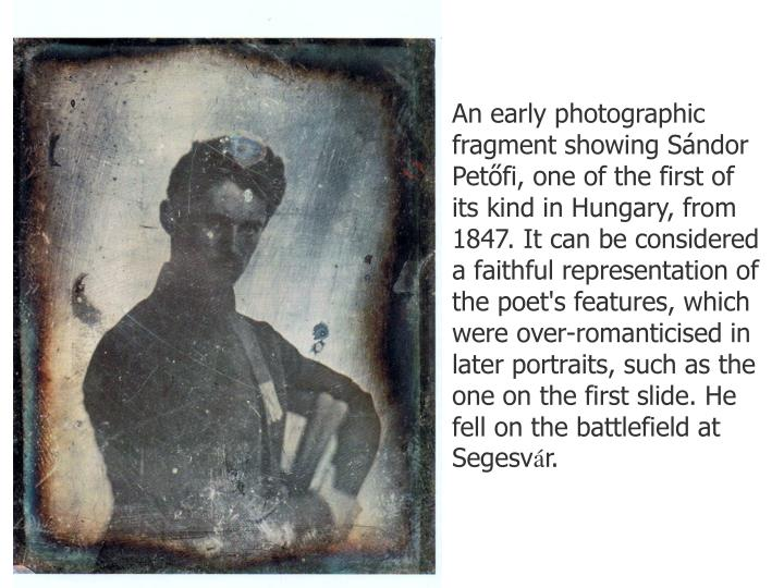 An early photographic fragment showing S