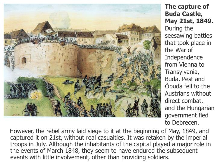 The capture of Buda Castle, May 21st, 1849.