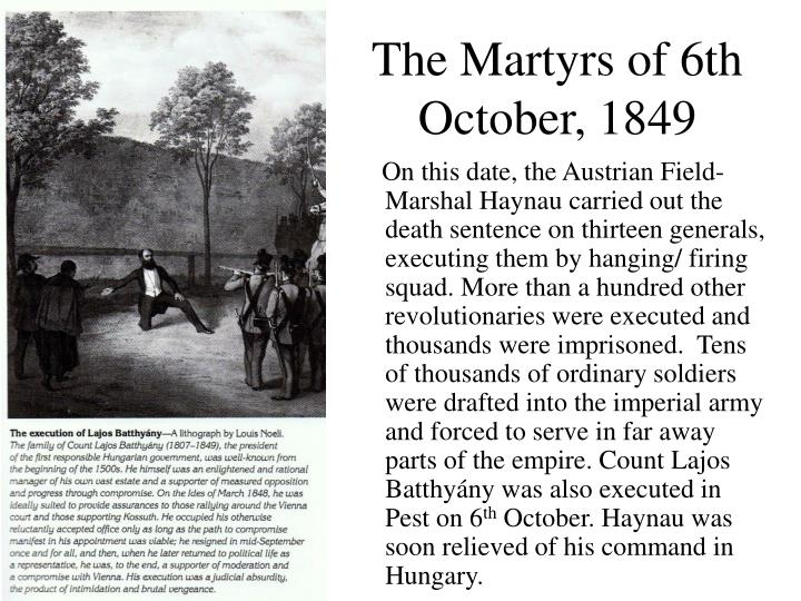 The Martyrs of 6th October, 1849