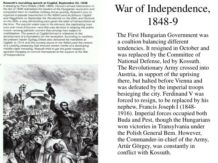 War of Independence, 1848-9