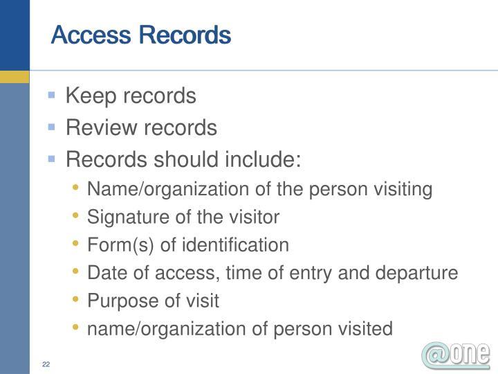Access Records
