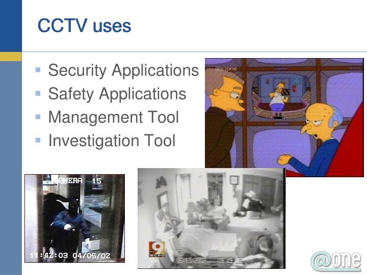 CCTV uses