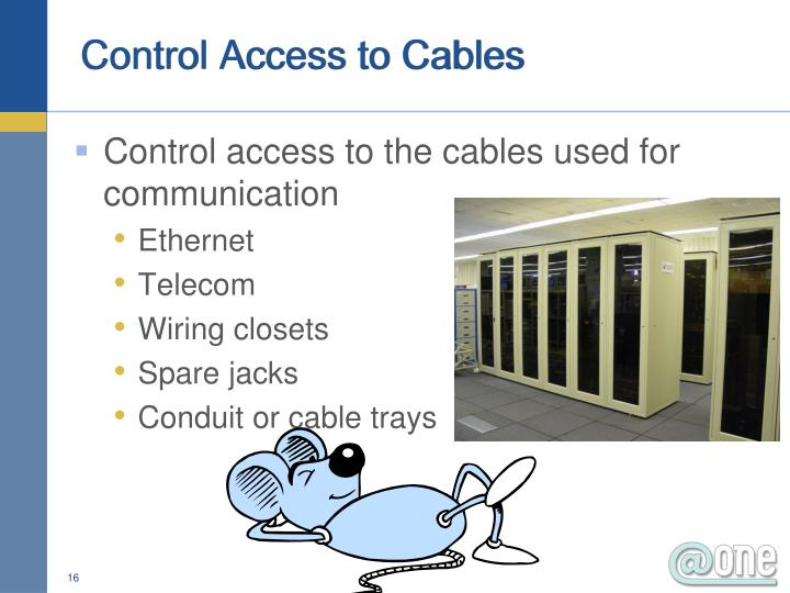 Control Access to Cables