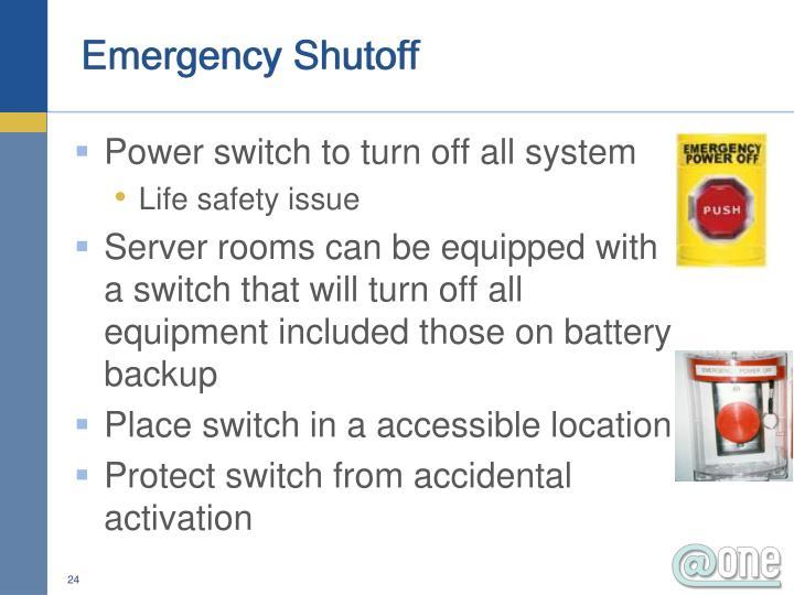 Emergency Shutoff