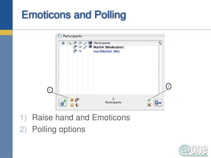 Emoticons and Polling
