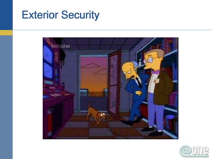 Exterior Security