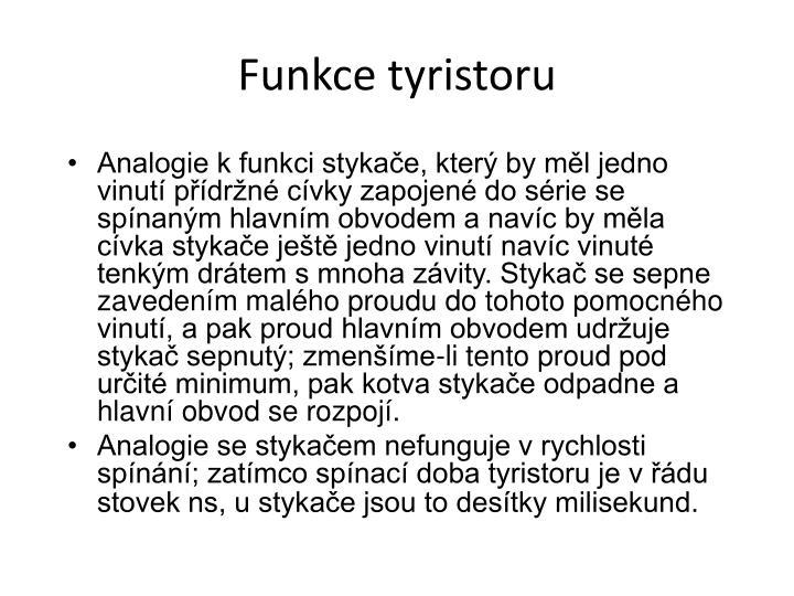 Funkce tyristoru