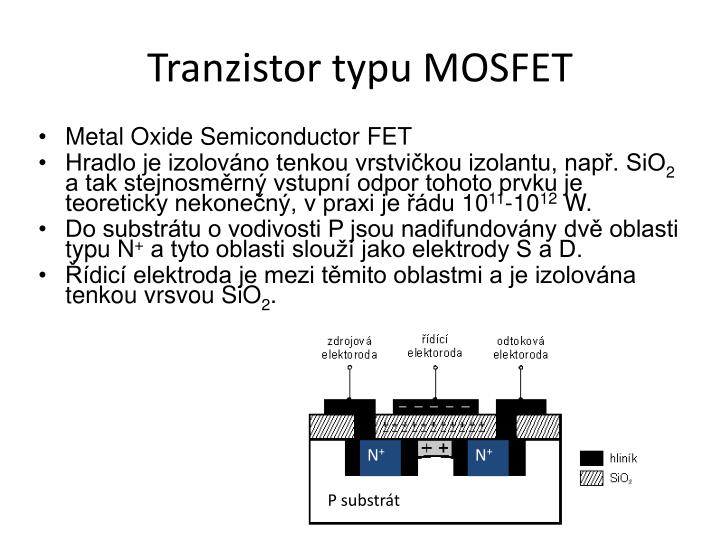 Tranzistor typu MOSFET