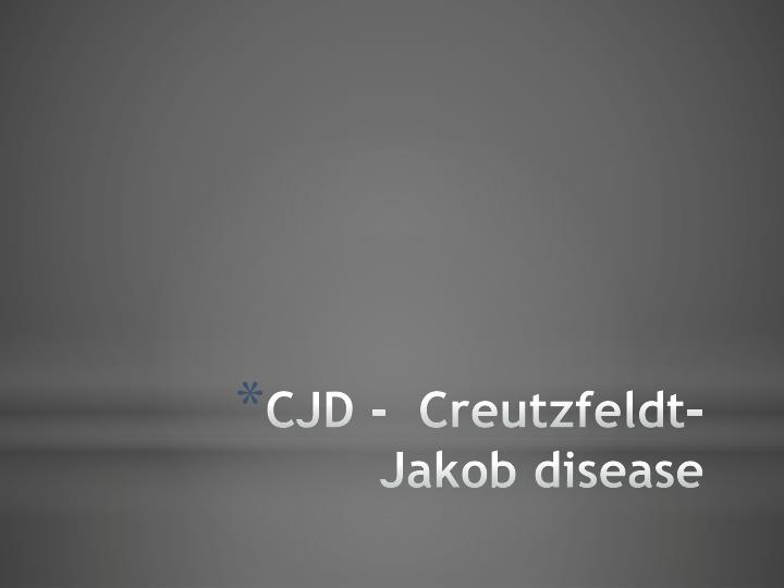 CJD -