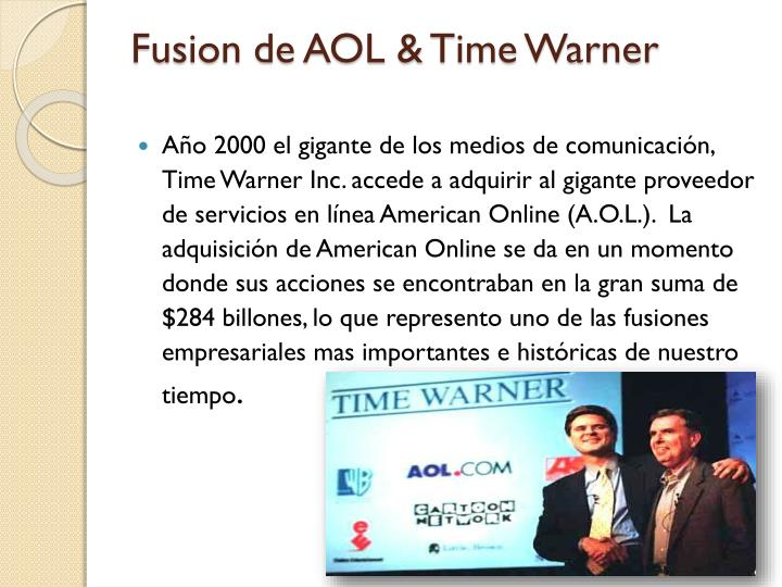 Fusion de AOL & Time Warner