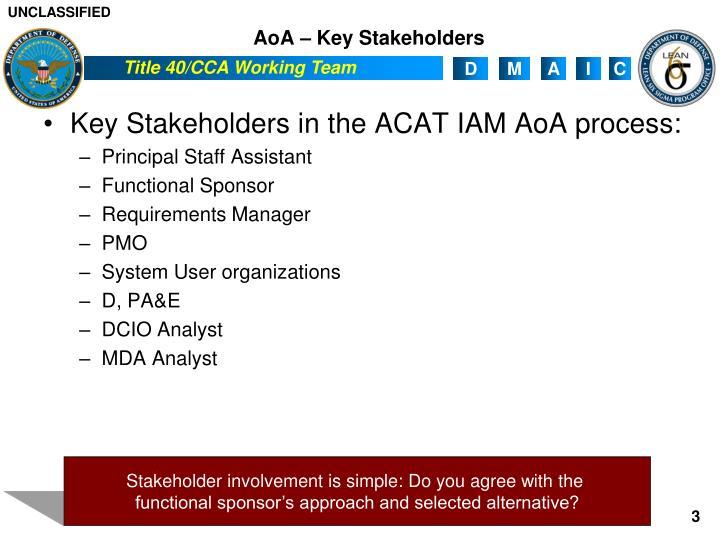 AoA – Key Stakeholders