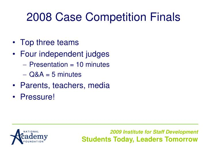 2008 Case Competition Finals