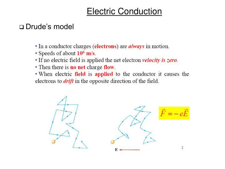 Drude's model