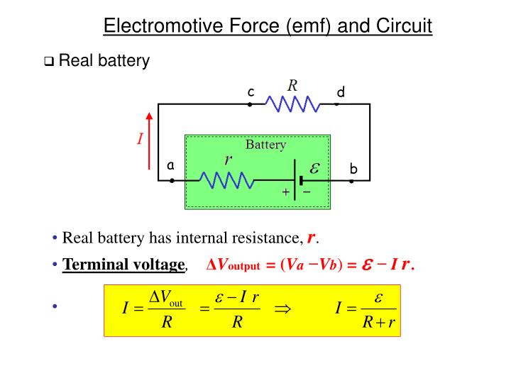Real battery