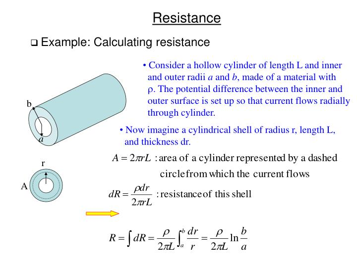 Example: Calculating resistance