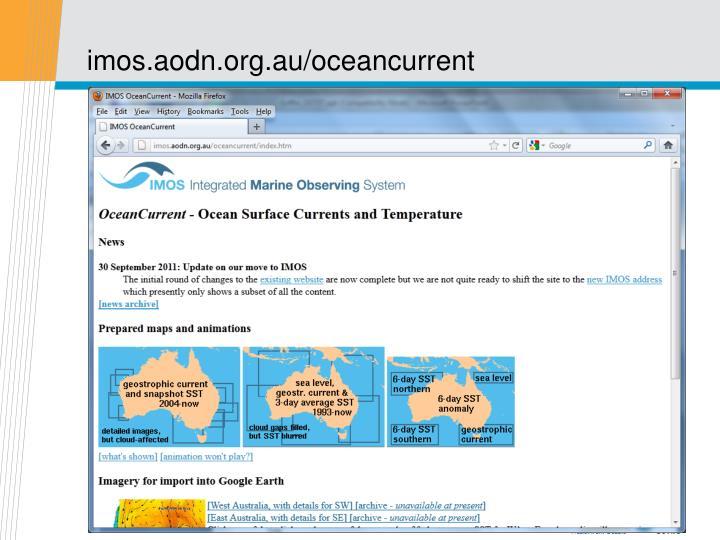 imos.aodn.org.au/oceancurrent