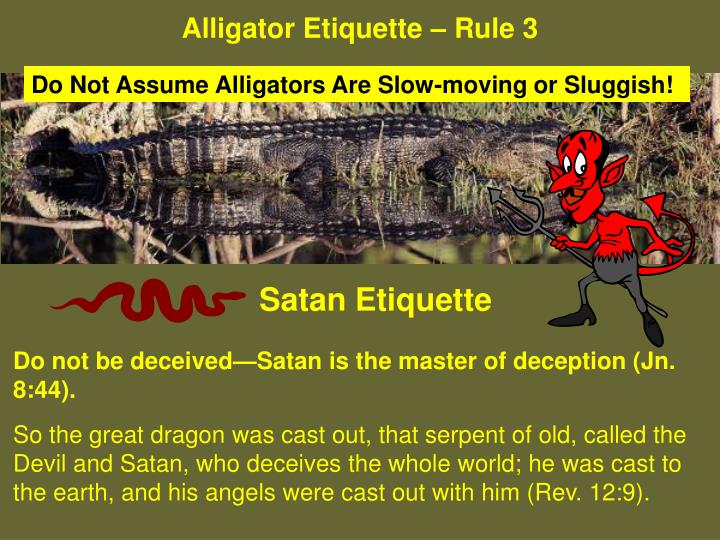 Alligator Etiquette – Rule 3