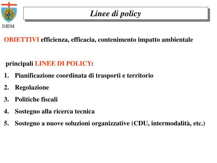 Linee di policy