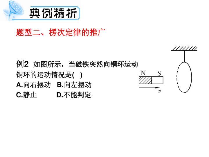 题型二、楞次定律的推广