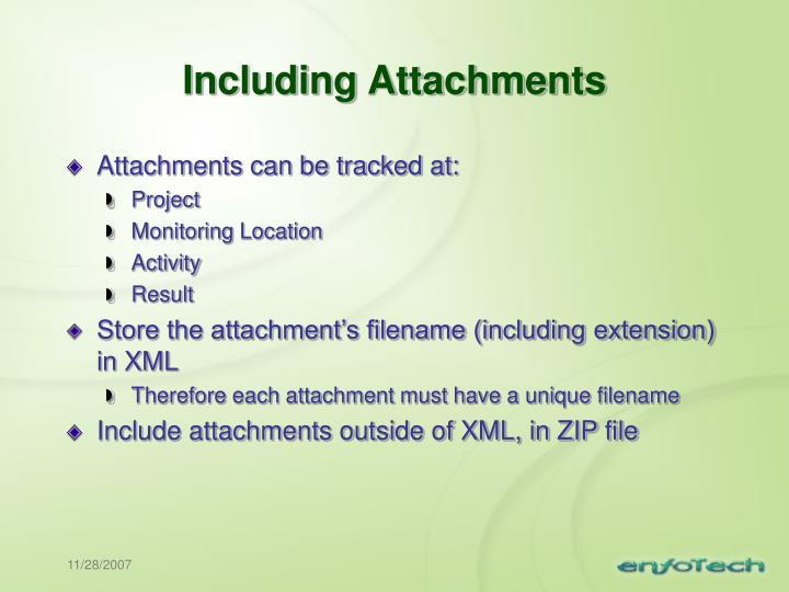 Including Attachments