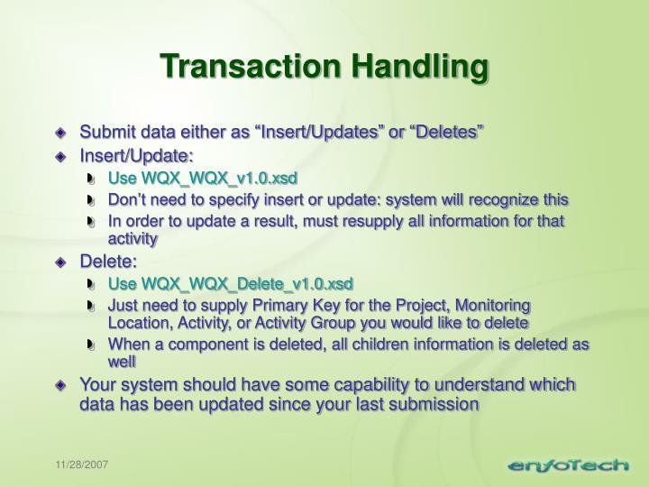 Transaction Handling