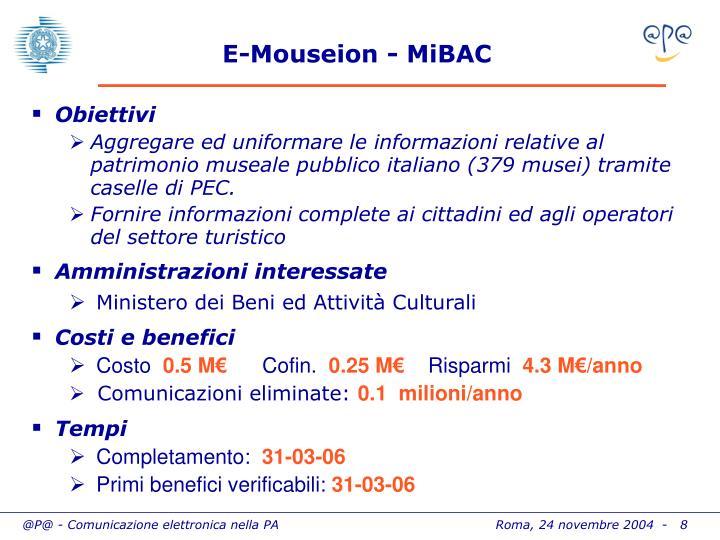 E-Mouseion - MiBAC