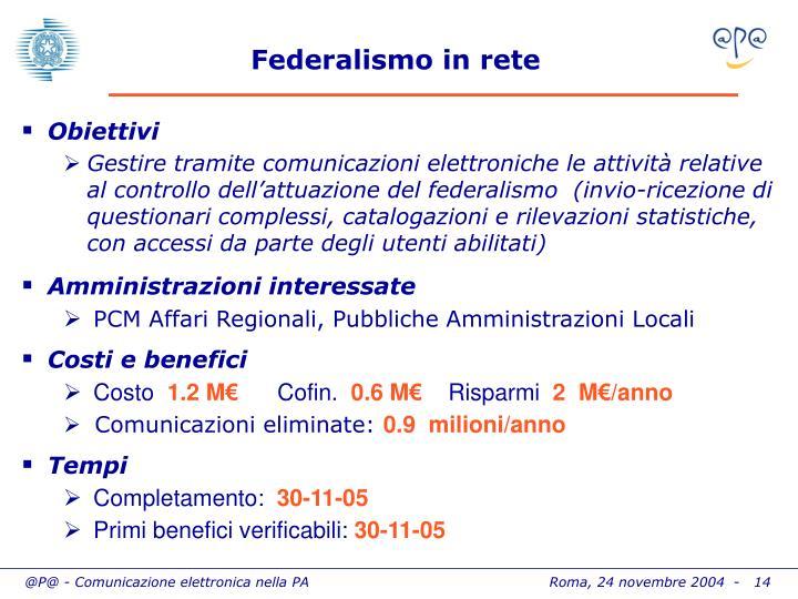 Federalismo in rete