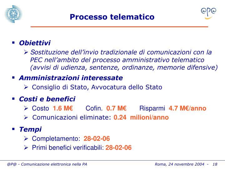 Processo telematico