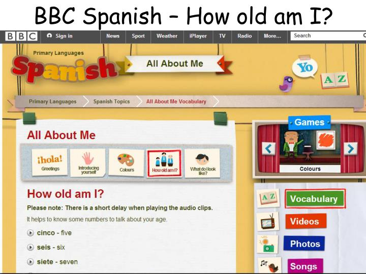 BBC Spanish – How old am I?