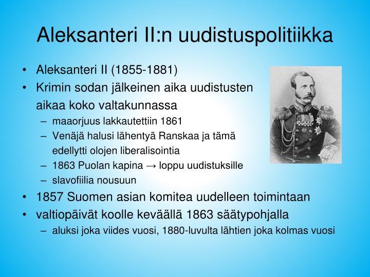Aleksanteri II:n uudistuspolitiikka
