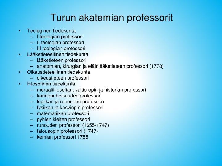 Turun akatemian professorit