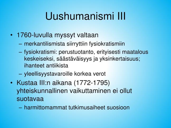 Uushumanismi III