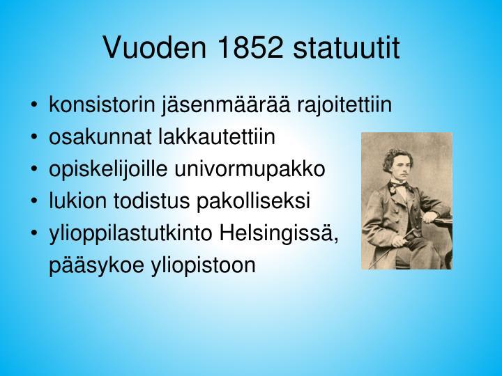 Vuoden 1852 statuutit