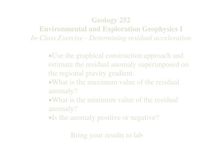 Geology 252