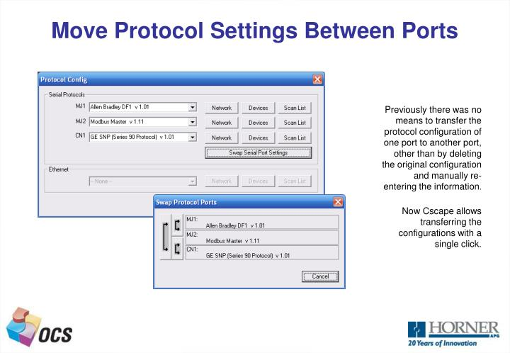Move Protocol Settings Between Ports