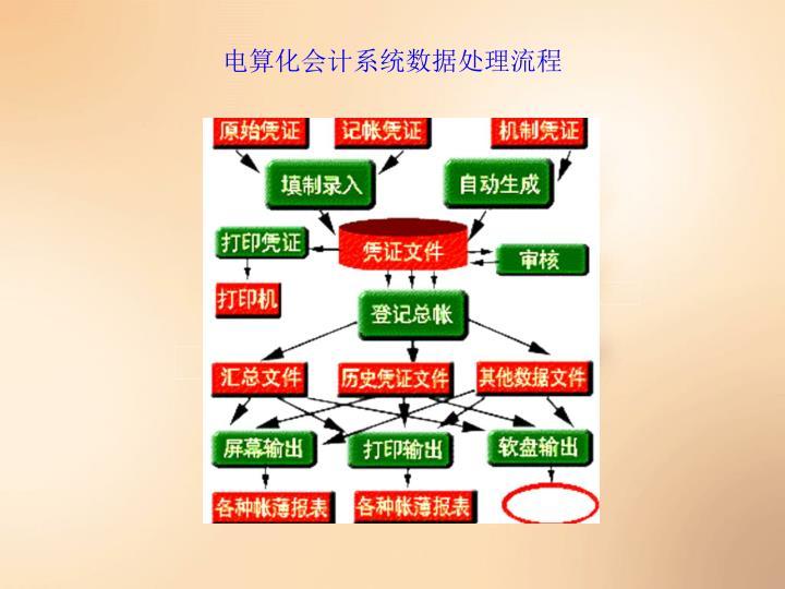 电算化会计系统数据处理流程