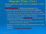 magnetic disks cont