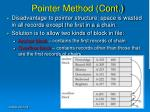 pointer method cont