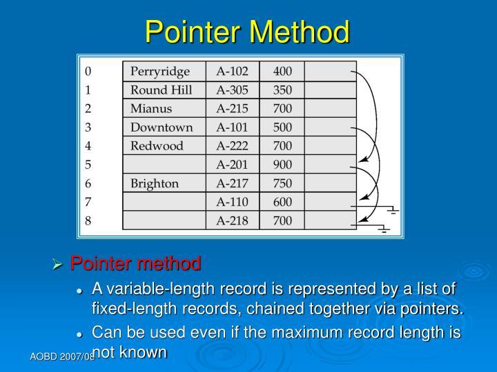Pointer Method