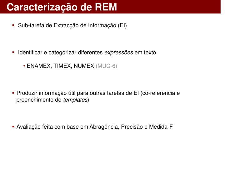 Caracterização de REM